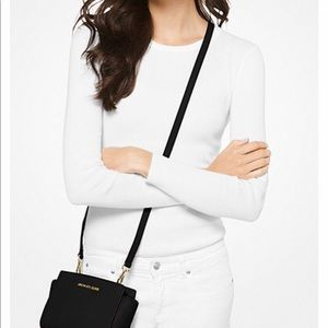 Michael Kors Bags - Michael Kors Black Leather Selma Mini Crossbody
